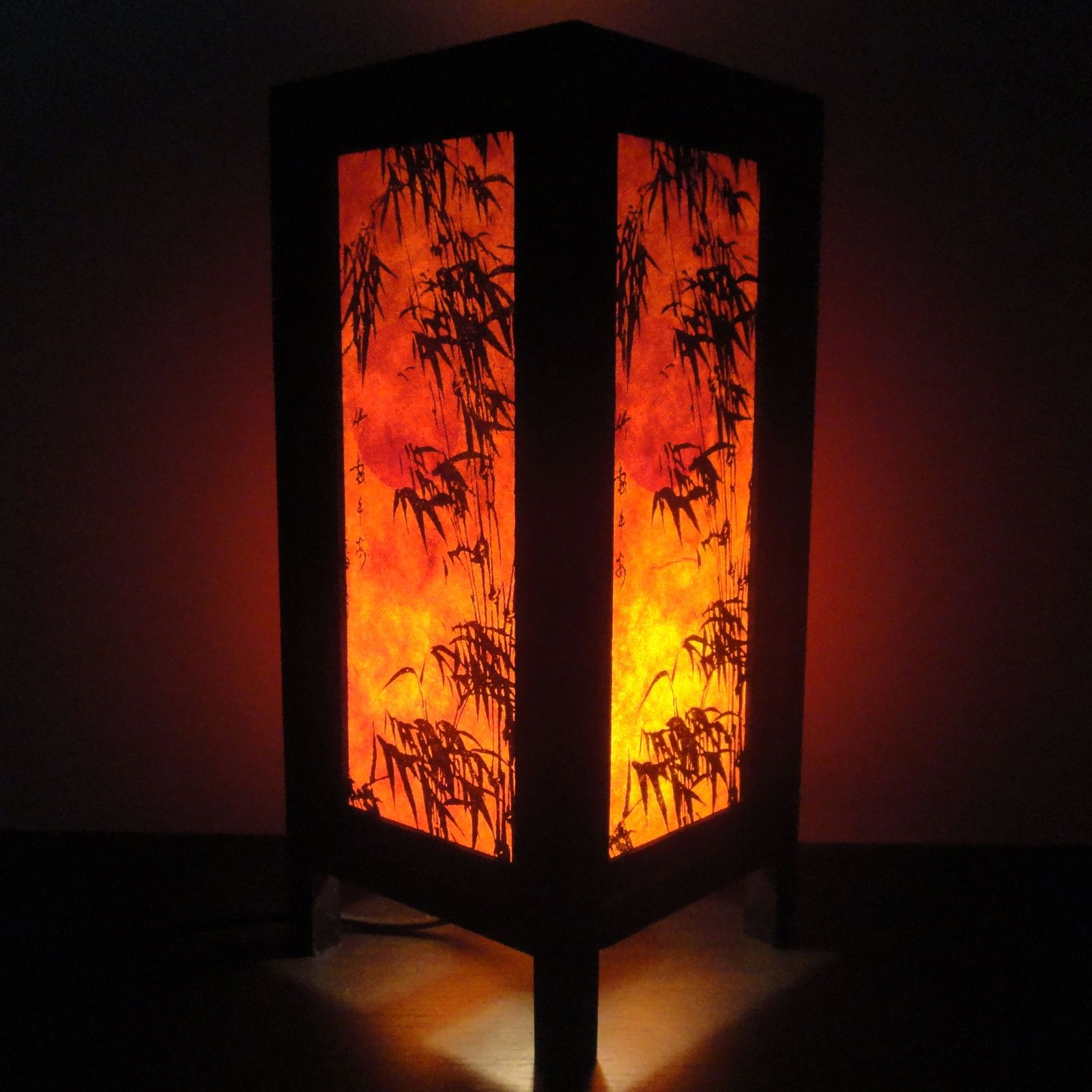 9 98 Aud Asian Oriental Dawning Sunset Japanese Art Bedside Desk Or Table Lamp Shades Ebay Home Ga Japanese Lamps Table Lamp Shades Painting Lamp Shades