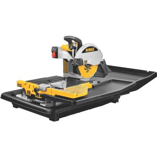 Dewalt D24000 1 5 Horsepower 10 Inch Wet Tile Saw Whether You Re A Flooring Specialist Or A Do It All Remodele Tile Saw Tile Saws Woodworking Tools