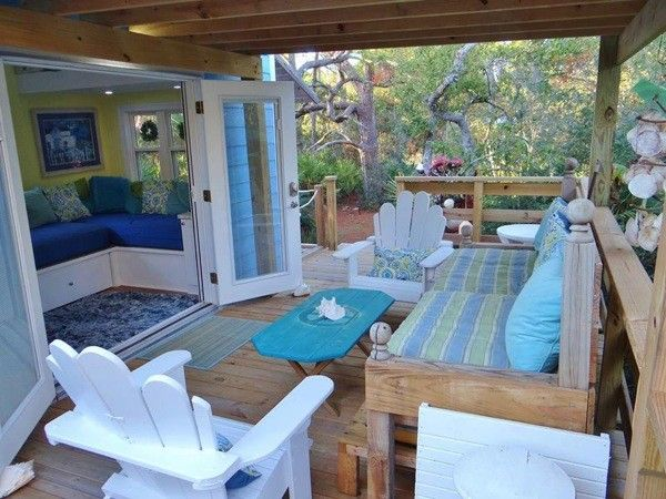 Tiny Beach Cottage With Two Lofts On August 28 2017 This Is A House Wheels Large Outdoor Deck Built By Signatour Campers