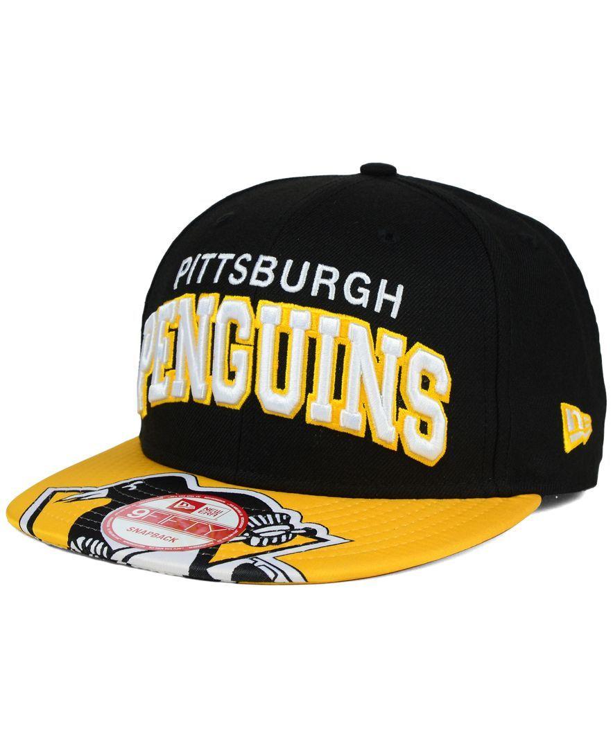 21fa78d4821be New Era Pittsburgh Penguins Double Flip 9FIFTY Snapback Cap ...