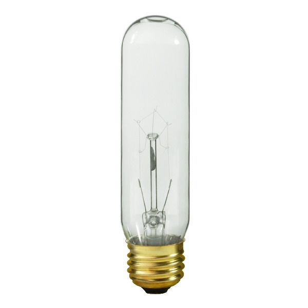 Satco S3896 60 Watt T10 Light Bulb Clear 60 Watt Light Bulb Dimmable Light Bulbs Light Bulb Candle