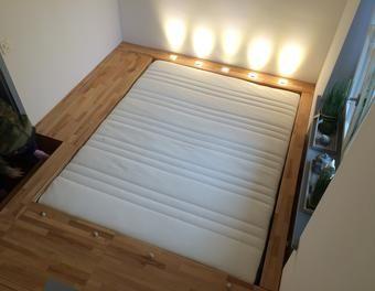 Das Schlafzimmer Hinter Der Geheimtür   Podestbett Bett,Schlafzimmer  Podestbett