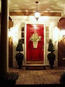 Update Your Front Porch Light Infotube Net Homes For Sale For Sale By Owne Red Front Door Front Door Design Front Porch Lighting