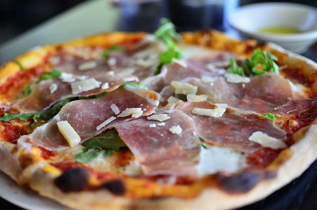 Prosciutto Di Parma Pizza at Doppio Artisan Pizza and Gelato in Greenwich, CT