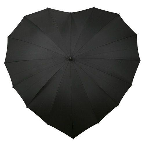 Black heart umbrella <3