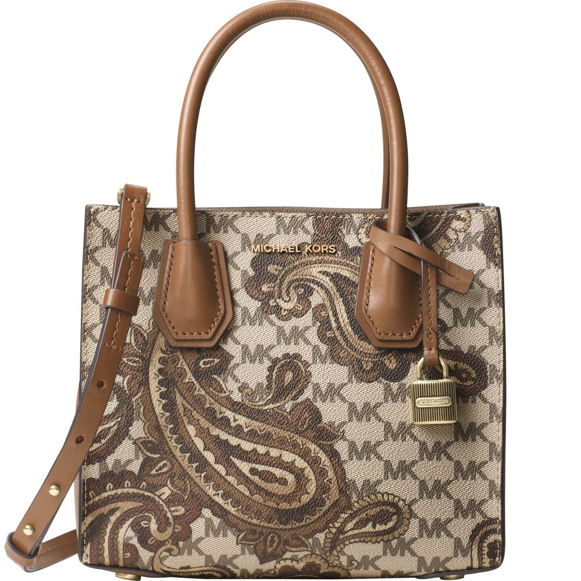 bb05f7f9b4713d Michael Kors Paisley Mercer Medium Messenger. Crafted from bonded canvas  for an exceptionally lightweight feel, the streamlined Mercer messenger in  all over ...