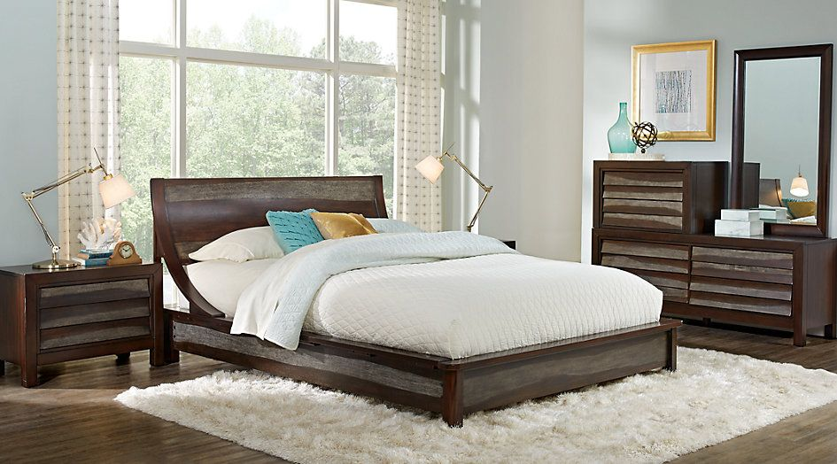 Harmony Place Brown 5 Pc King Platform Bedroom | home ...