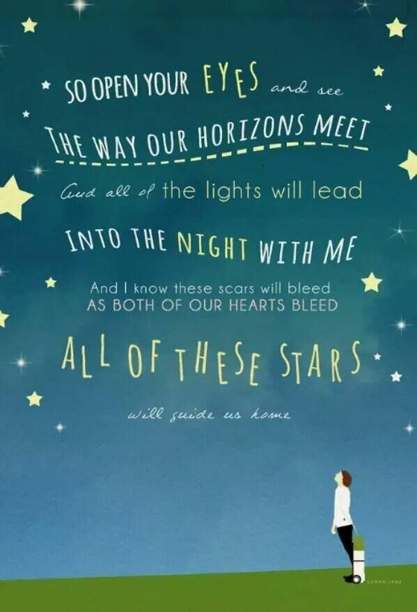 Open Your Eyes And Really See Stars >> All Of These Starts Will Guide Us Home Tfios Song Lyrics