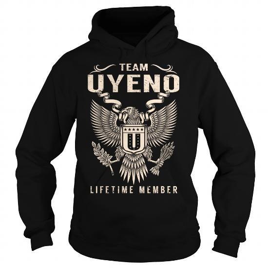 Cool Team UYENO Lifetime Member - Last Name, Surname T-Shirt T shirts