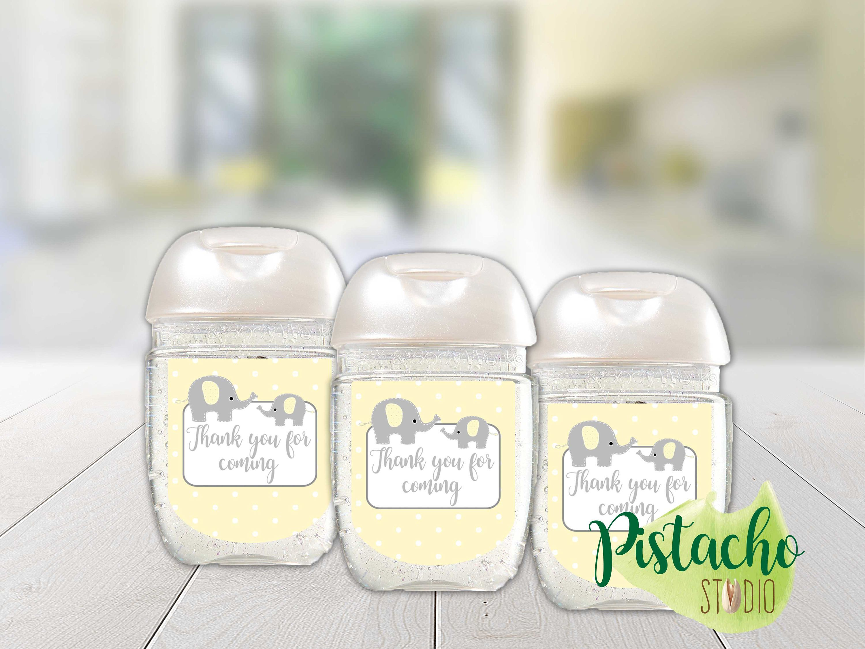 Printable Baby Shower Sanitizer Labels Mini Hand Sanitizer Label