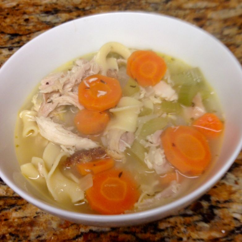Super easy chicken noodle soup! #spicelovelife #chickennoodle