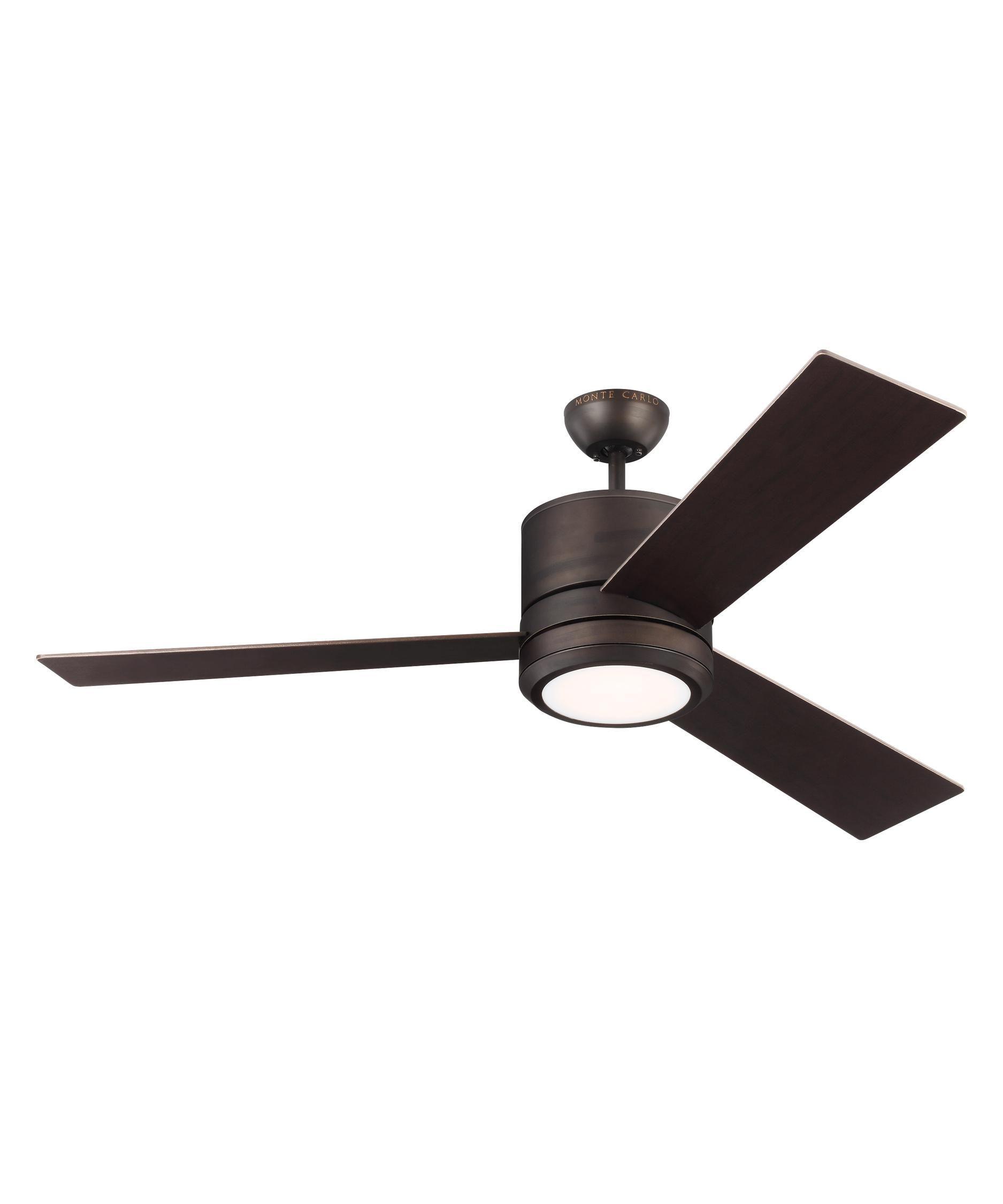 Monte Carlo 3vnmr56 Vision Max Energy Smart 56 Inch Ceiling Fan With Light Kit Ceiling Fan With Light Fan Light Ceiling Fan