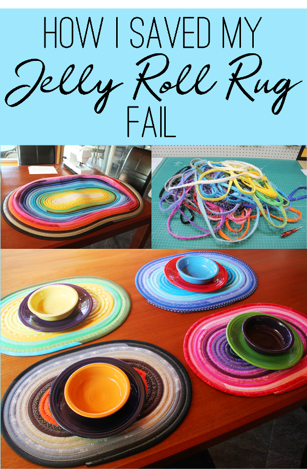 Jelly Roll Rug Turned Placemats Crafty Staci Jelly Roll Quilt Patterns Jelly Roll Projects Beginner Sewing Projects Easy