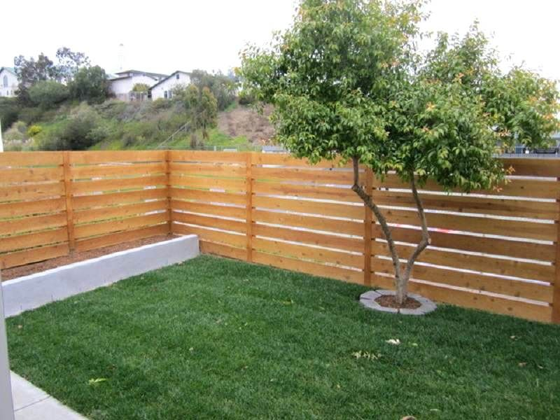 Horizontal Fence Cost Horizontal Fence Horizontal Cedar Wood Fence