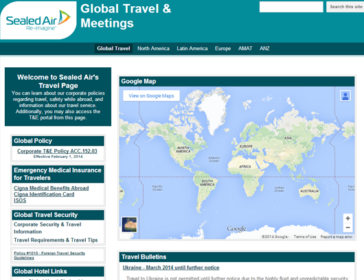 Sealed Air Launches New Global Travel Amp Meetings Site I
