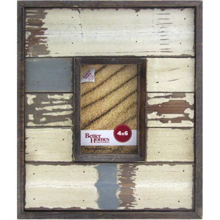 Better Homes and Gardens Cape Wood 4x6 Multicolored Picture Frame, Multicolor