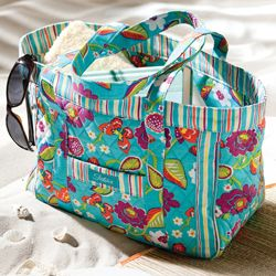 Longaberger Sisters Quilted Summer Fun Lovin Tote Beach Bag ...