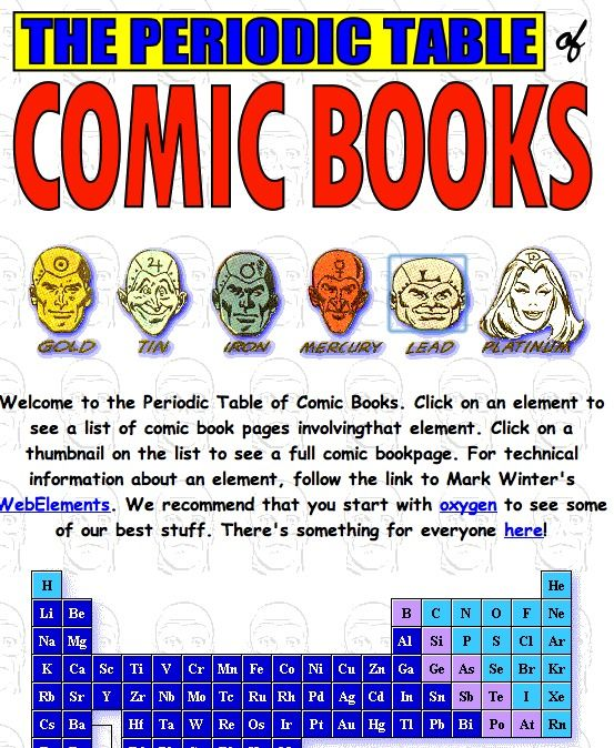 The Comic Book Periodic Table of the Elements Periodic table - best of periodic table zr