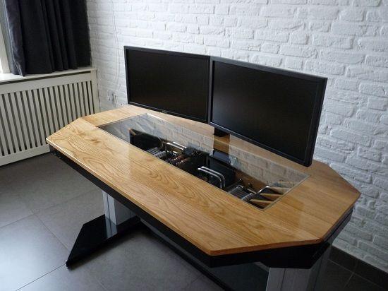 Un ordinateur dans le bureau bureaux escritorio pc