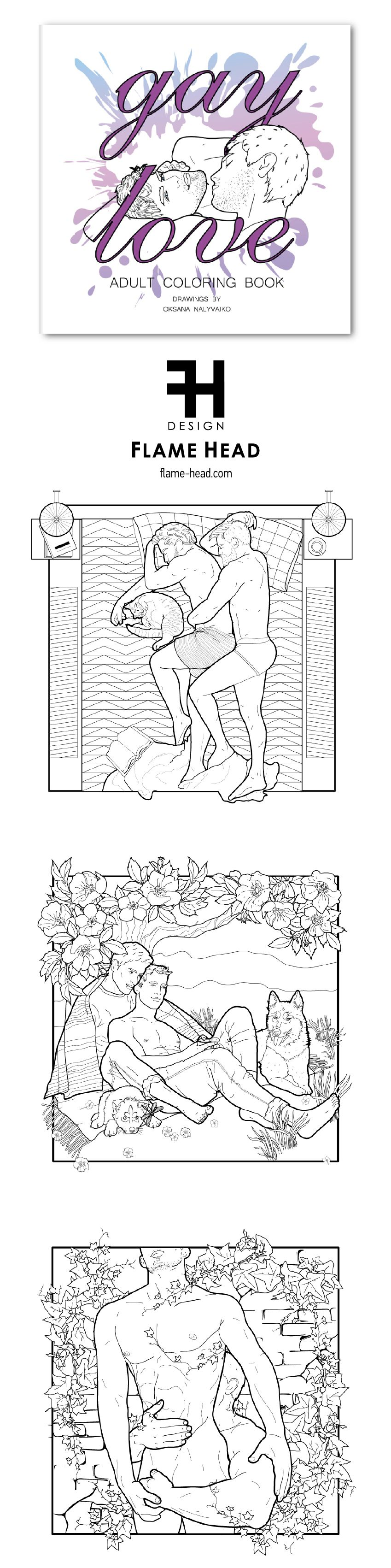 Pin On Erotic Coloring Books By Flamehead Design