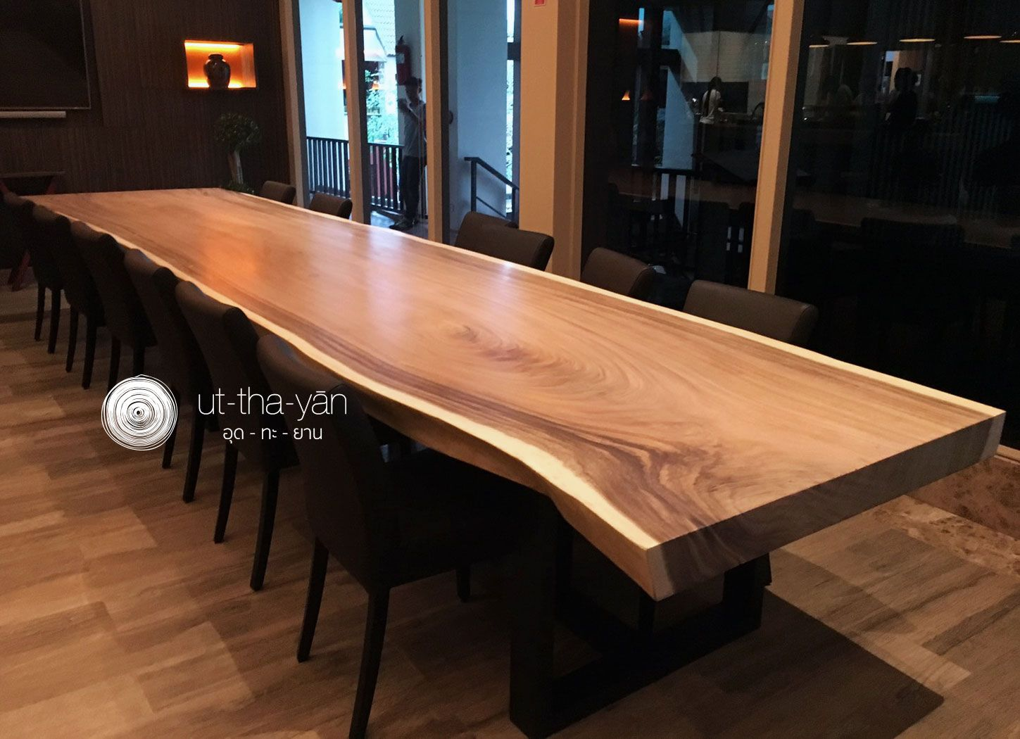 [LONG TABLE]   A SINGLE 5.7 METER LONG U0027ACACIA/RAINTREEu0027