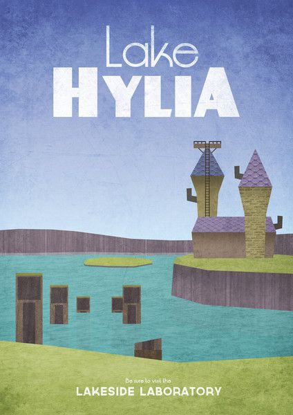 Lake Hylia Travel Poster by Dean Walton | Zelda | Legend of
