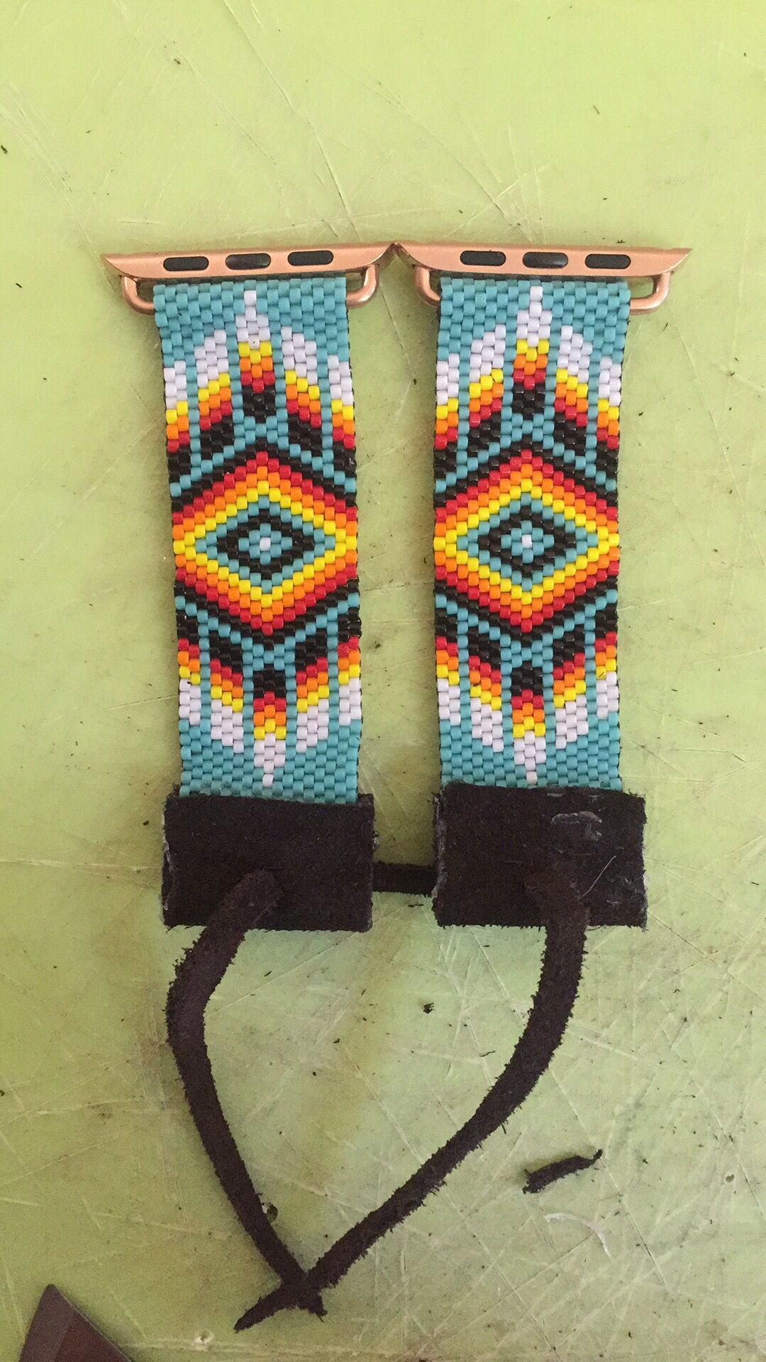 Beaded Apple Watch Band Apple Watch Bands Beaded Watches Bead Work