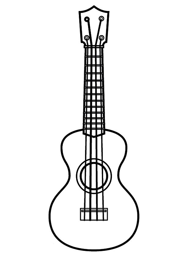 Pin By Becky Smith On Doctor Who Ukulele Coloring Pages Guitar