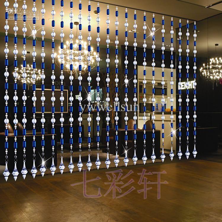 handmade acrylic bead curtains for doors room dividers ...