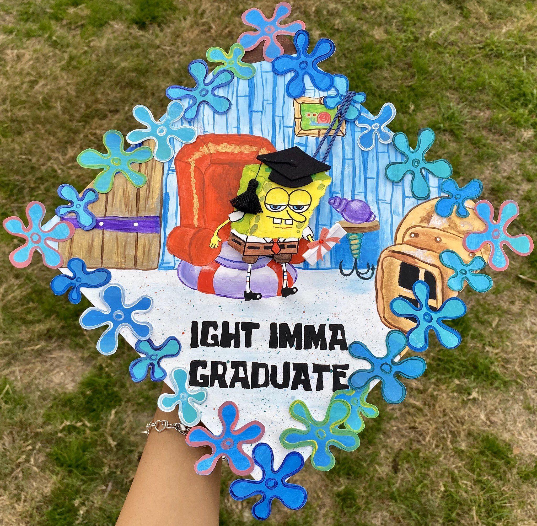 Spongebob graduation Cap �|| Twitter: _xOnisssaa