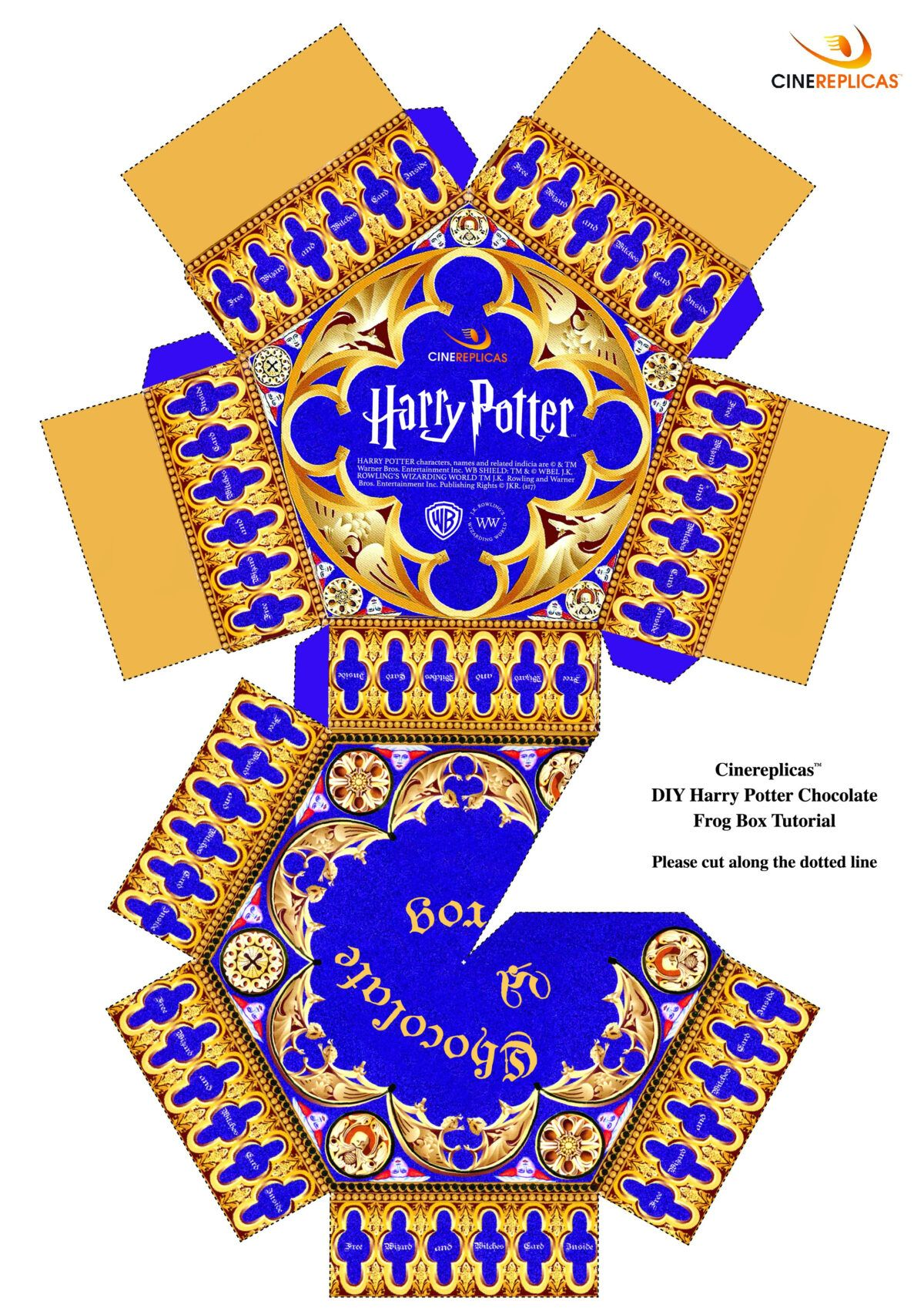 D8874 Chocolate Frog Box Template Wiring Resources Within Chocolate Frog Card Te Regalos De Harry Potter Manualidades De Harry Potter Adornos De Harry Potter