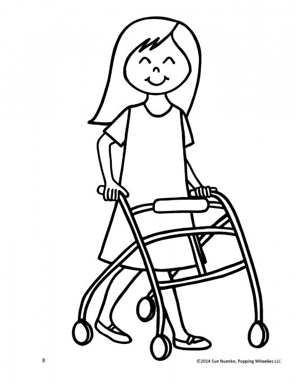 children with disabilities coloring pages - photo#23