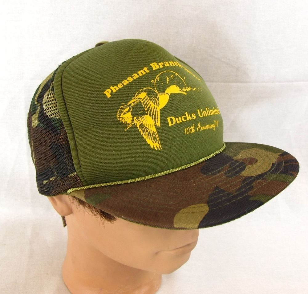 Ducks Unlimited Baseball Hat Adjustable Cap Snapback Farmer Trucker  Pheasant  Daystone  BaseballCap 1dda701e928