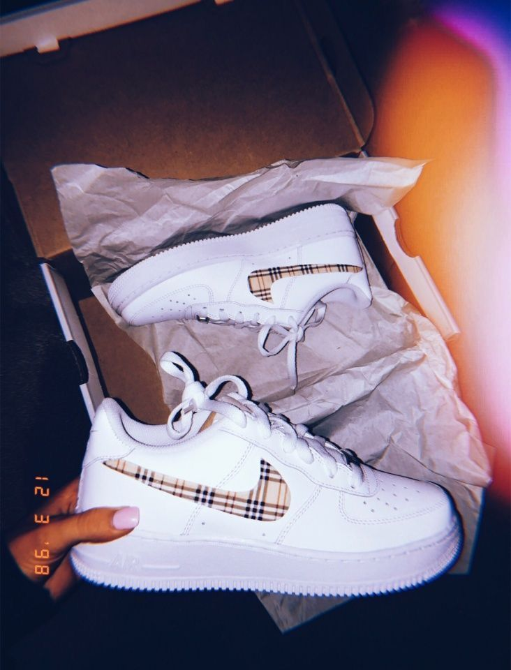 Nike Air Force 1 Custom Plaids Available in all sizes for Men, Women, Children