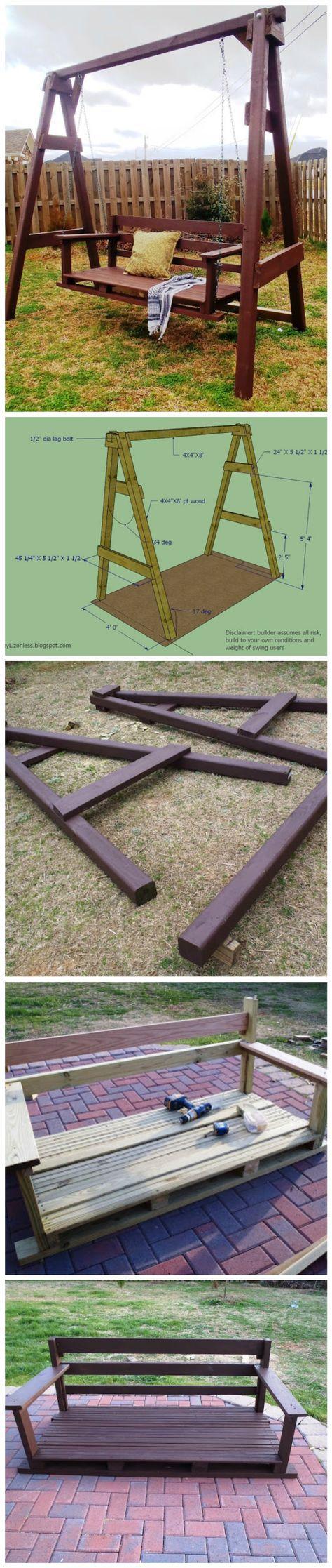 How To Build A Backyard Swing Set   제부도응용   Pinterest   Gärten ...