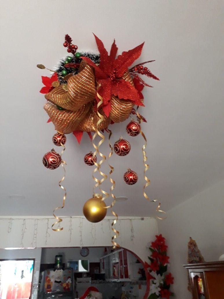 Decoración Navideña Para Techos Cielo Raso Ornament Wreath Wreaths Decor