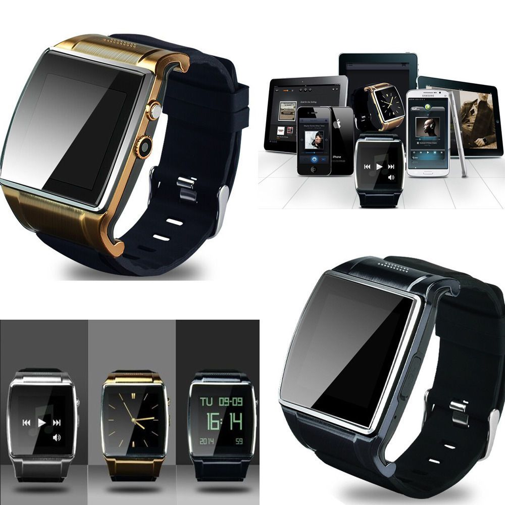 Bluetooth V3.0 Smart Watch Cellphone 2.0 MP Camera For