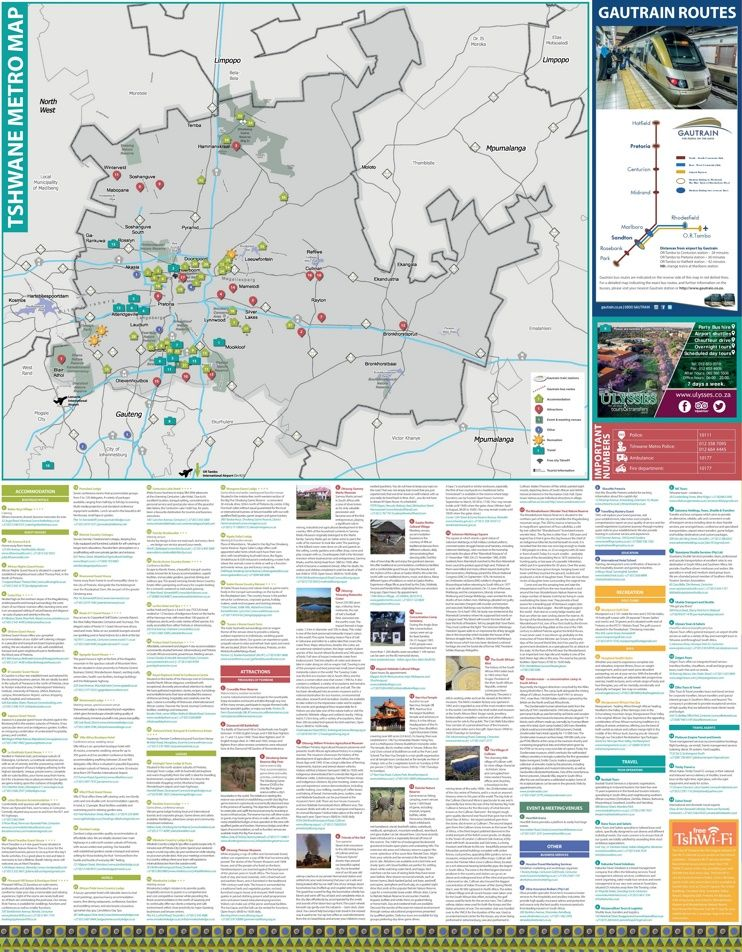 Pretoria tourist map Maps Pinterest Tourist map Pretoria and