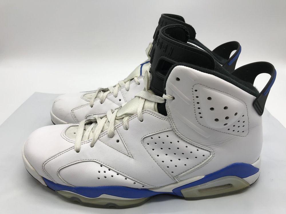 Mens Air Jordan 6 Retro 384664107 White/Sport Blue Size