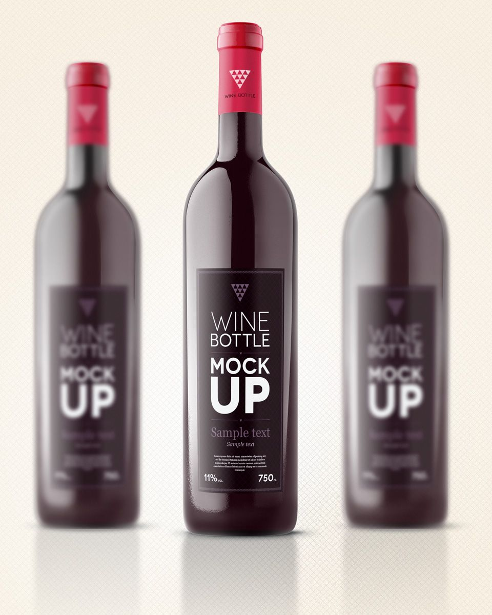 Our wine bottle template is a very realistic vector shape wine – Abel Templates Psd