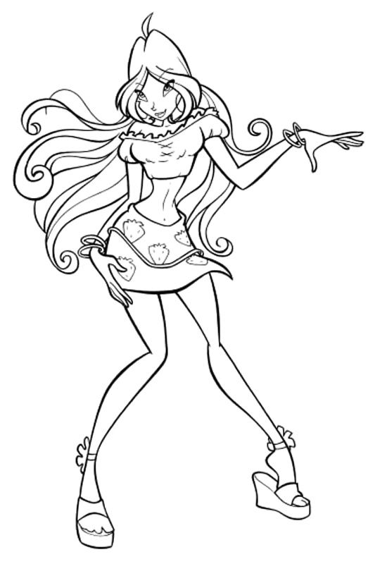 winx club coloring pages flora