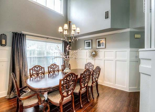 House   Formal dining room. Classic Style Home Tour   Batten  Formal dining rooms and Ceilings