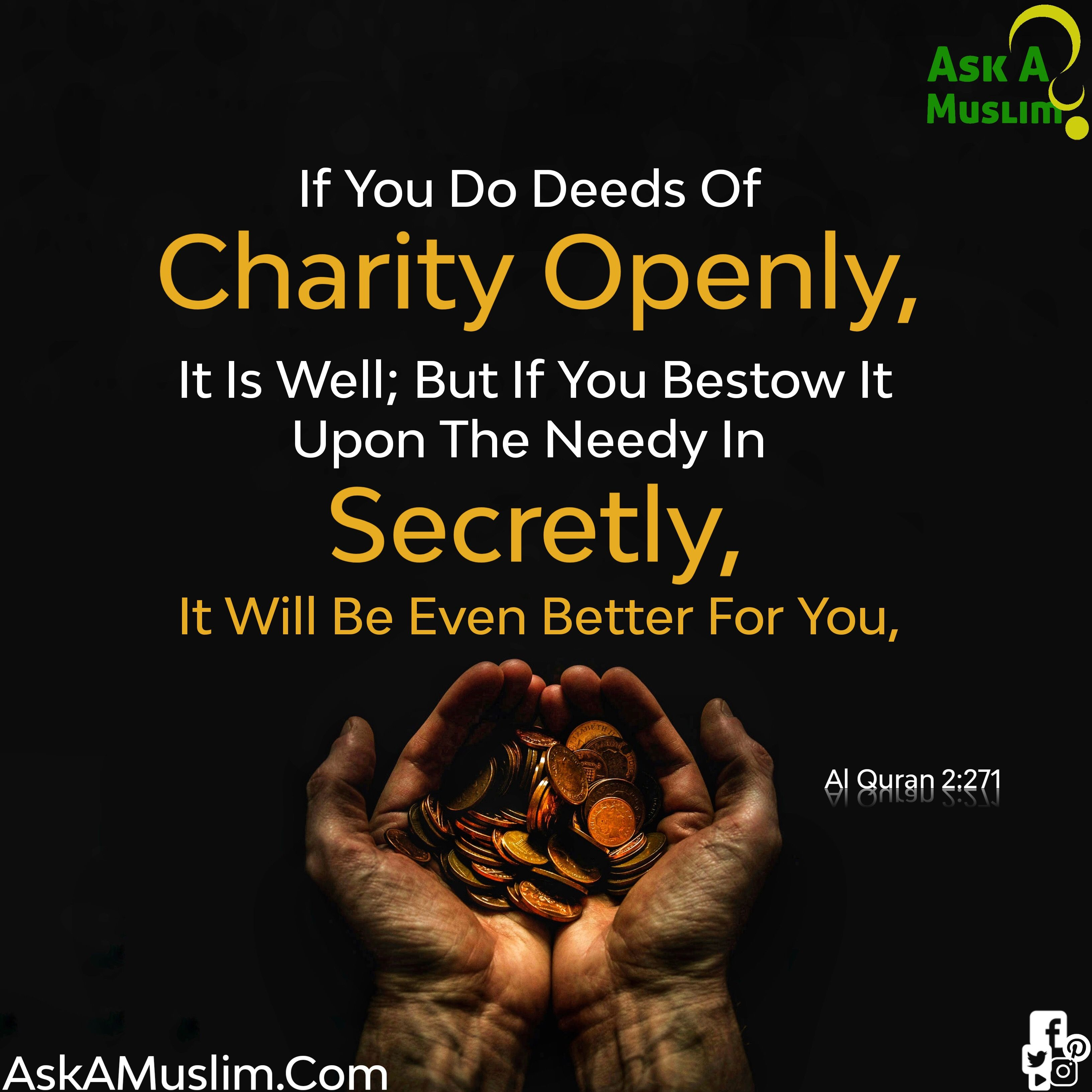 Secret Charity Islam Charity Quotes Islamic Inspirational Quotes Islamic Quotes
