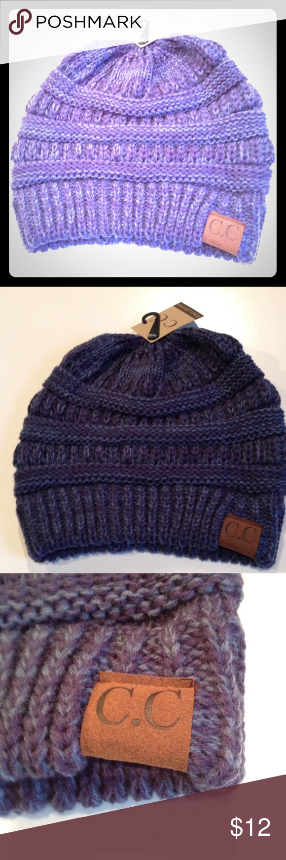 C.C Woven cap Multi blue Colored beanie/ cap. New with tags. C.C Accessories Hats