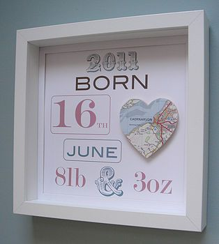 What a cute way to display newborn info!