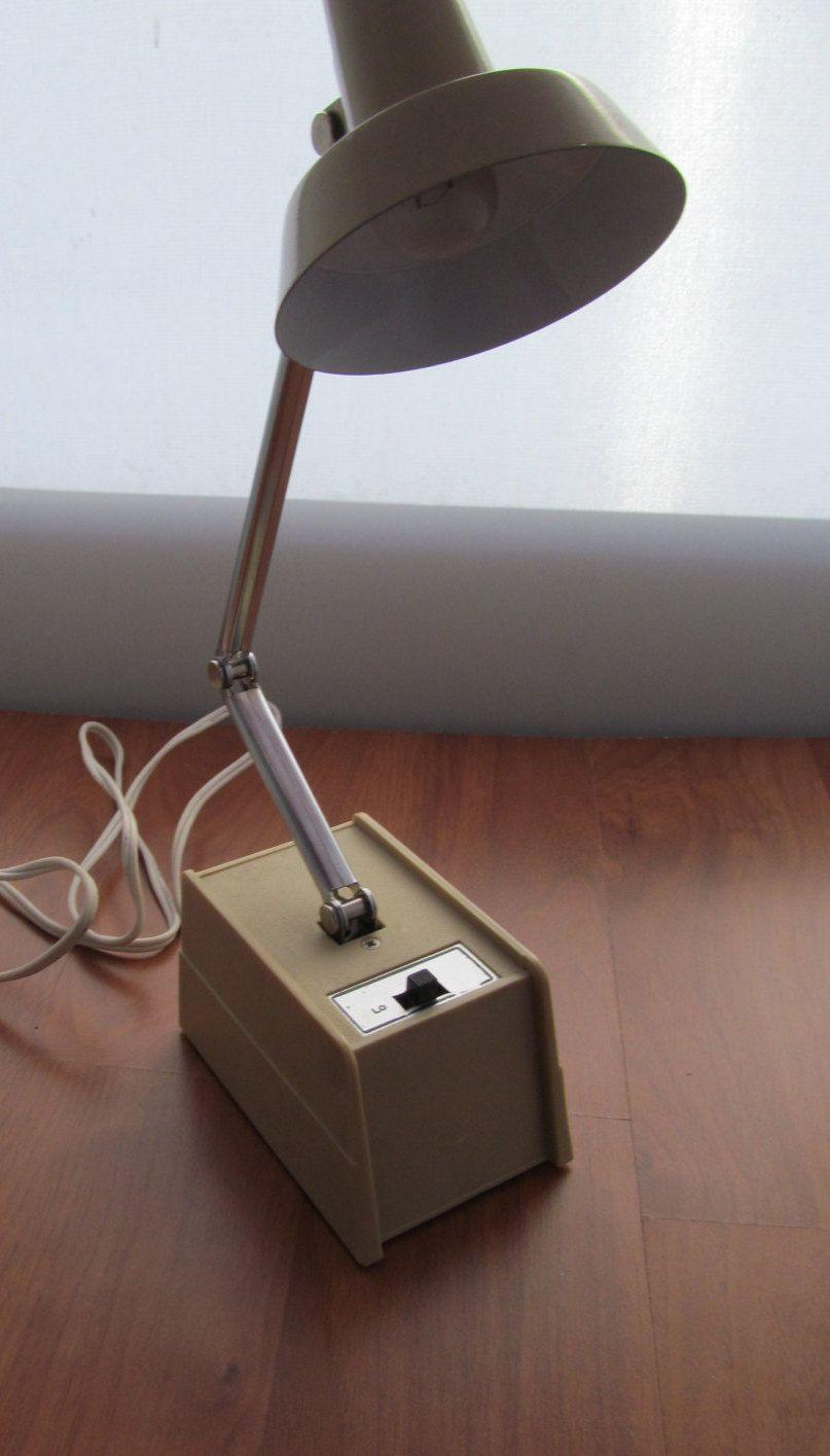 Vintage Portable Desk Lamp Retro Underwriters laboratory
