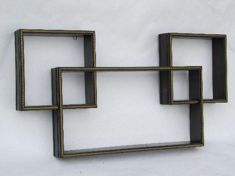 60s vintage mod cubes modular shadow box shelves for displaying nick-nacks  as wall art - 60s Vintage Mod Cubes Modular Shadow Box Shelves For Displaying