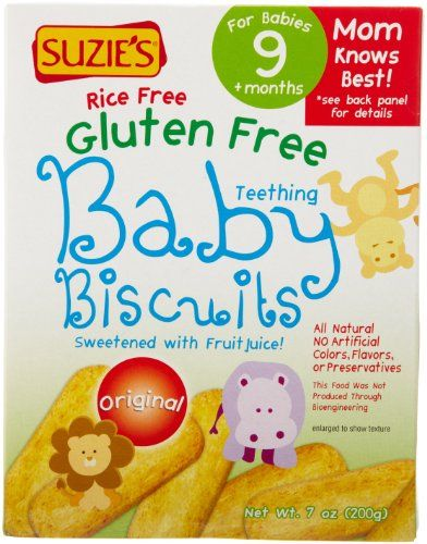 Gluten Free Baby Food Suzie S Gluten Free Baby Biscuits 7 Ounce Foods For Baby Free Baby Stuff