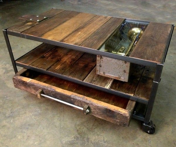 Build Industrial Coffee Table: Rustic Wood Coffee Table: DIY Guide