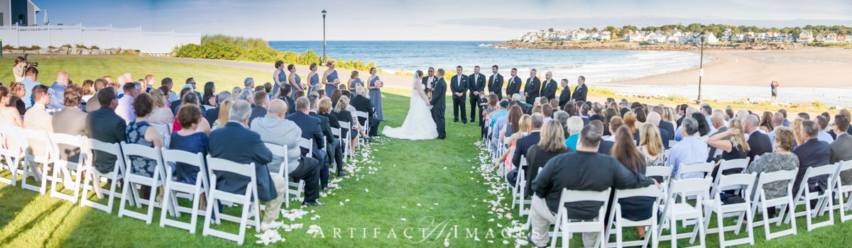 Wedding Ceremony On The Beautiful Grounds Beach Side Of Union Bluff Meeting House